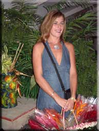 Vanessa, the ex-flower girl at Restaurants in Grand Case St Martin Grand Case Saint Martin